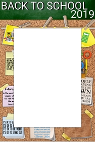 Back to School Party Prop Frame