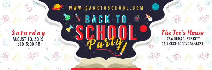 Back to School Party with Illustrations