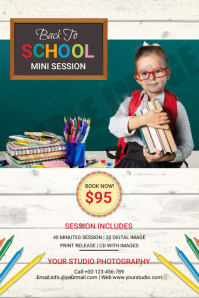 Back To School Photography Mini Session Label template