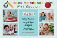 Back To School Photography Mini Session Etykieta template