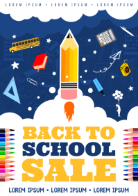 BACK TO SCHOOL POSTER A4 template