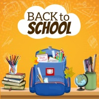 Back to School poster Iphosti le-Instagram template