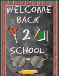 Back to school poster/flyer
