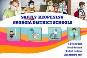 back to school precautions/daycare/preschool Banner 4' × 6' template