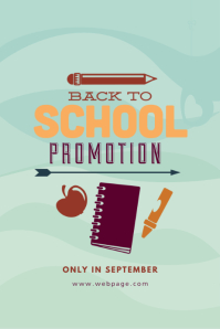 Back to school promotion template