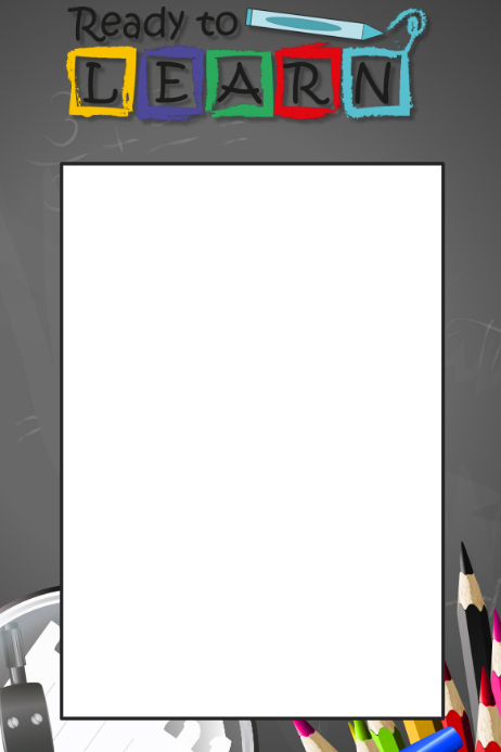 Back To School Prop Frame Template Postermywall