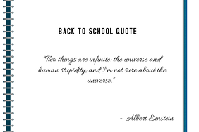 BACK TO SCHOOL QUOTE NOTEBOOK LETTER TEMPLATE