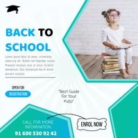 Back To School/Registration Open Social Media Instagram 帖子 template
