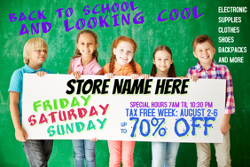 Back to School Retail Advertisement