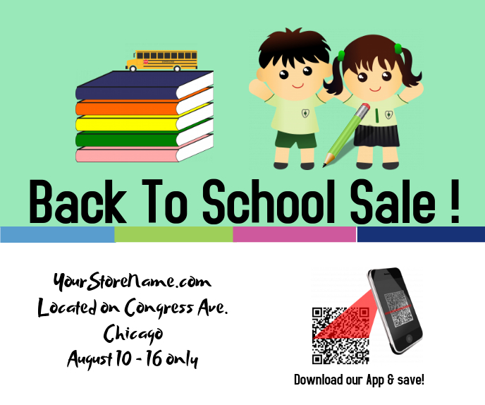 Back to school/ retail/store sale 巨型广告 template