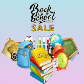 BACK TO SCHOOL sale Instagram Post template