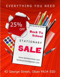 Back to School Sale Flyer (US Letter) template