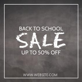 BACK TO SCHOOL SALE Instagram Post template
