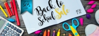 Back To School Sale Facebook Cover Facebook-coverfoto template