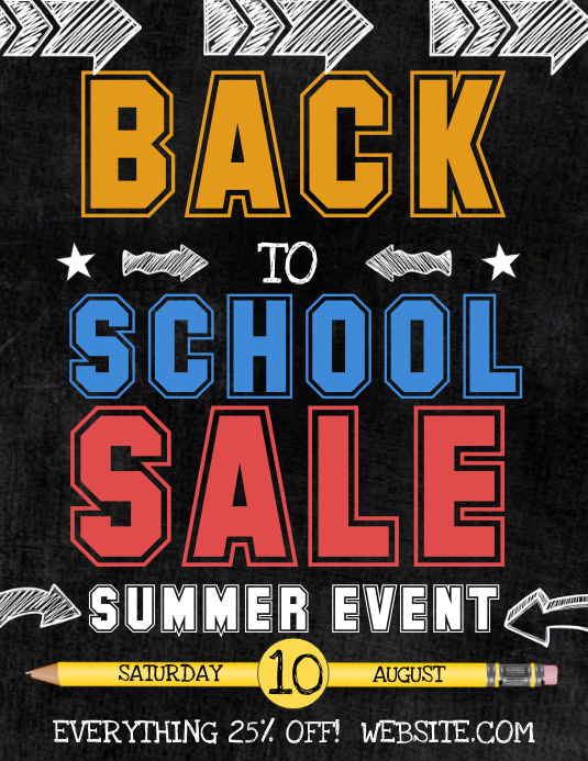 Back to School Sale Template | PosterMyWall