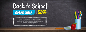 Back to School Sale Offer Facebook Cover Template Ikhava Yesithombe se-Facebook