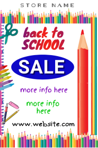 Back to School Sale Poster