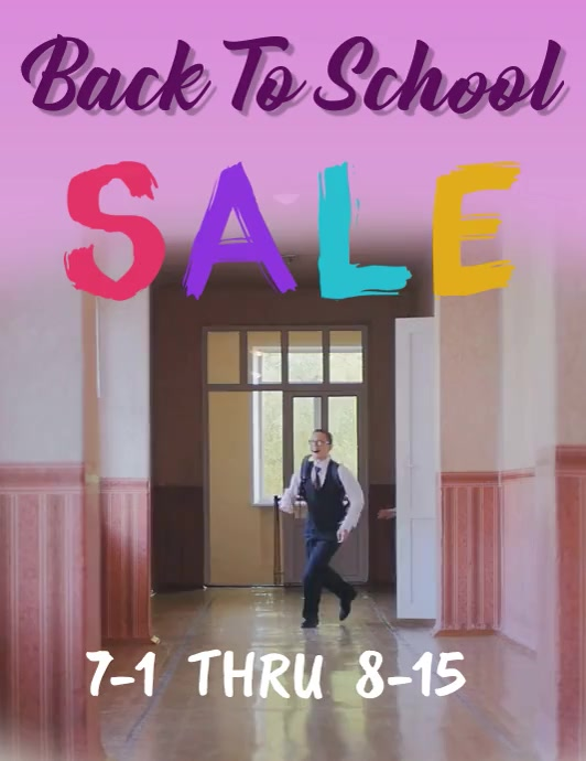 BACK TO SCHOOL SALE RETAIL