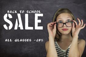 back to school sale retail promotion template landscape