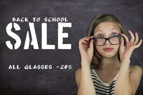 back to school sale retail promotion template landscape