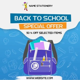 BACK TO SCHOOL SALE SOCIAL MEDIA AD