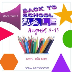 Back to School Sale Video