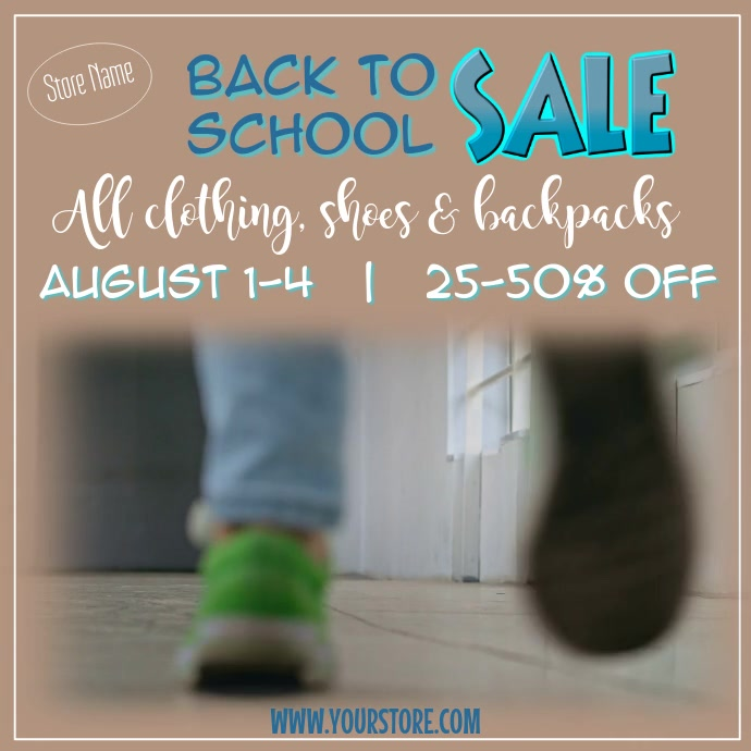 Back to School Sale Video