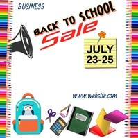 Back to School Sale Video Quadrato (1:1) template
