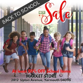Back to School Sale Video Template