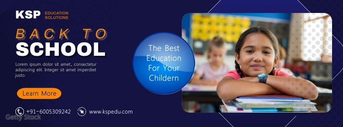 Back To School / School Admission Facebook-omslagfoto template