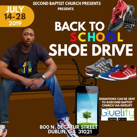 BACK TO SCHOOL SHOE DRIVE