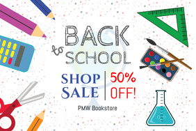 Back To School Shopping Sale Poster Template