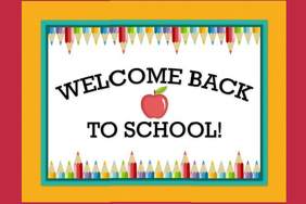 Welcome Back To School Sign Poster template