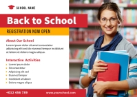 Back To School Social Media post Postcard template