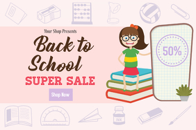 Back To School Super Sale Poster Template