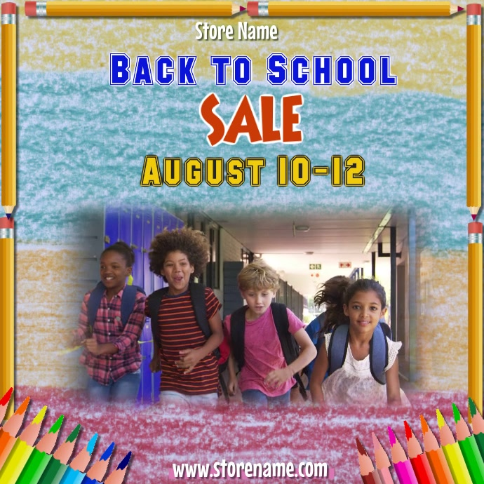 Back to School Supplies Sale Video