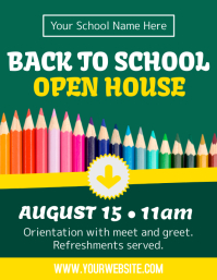 Back to school template Flyer (US Letter)