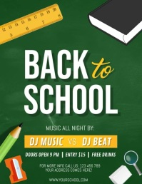 Back to School Video, School Flyer template