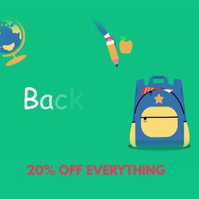 Back to school video ad sale retail template