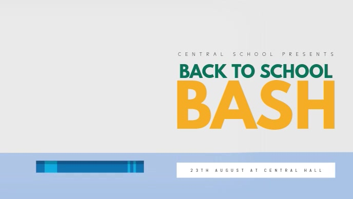 Back to School Video Facebook Cover Template