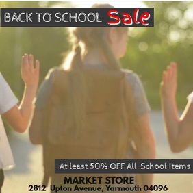 Back to School Video Promo Template