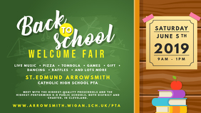 Back to School Welcome Fair Banner template