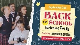 Back to School Welcome Party Facebook Cover V