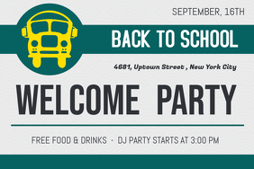 Back To School Welcome Party Poster Template