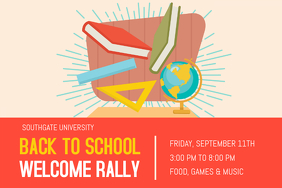 Back To School Welcome Rally Poster Template