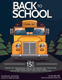 BACK TO SCHOOLFlyer template Volante (Carta US)