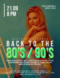 Back to the 80's 90's Event Flyer Template