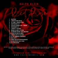 Back Tracklist Flower Red Rose CD Cover Art Portada de Álbum template