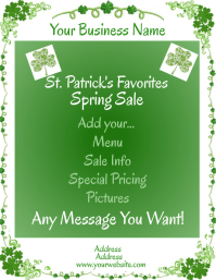 Background Green Clover Floral Flyer (US Letter) template