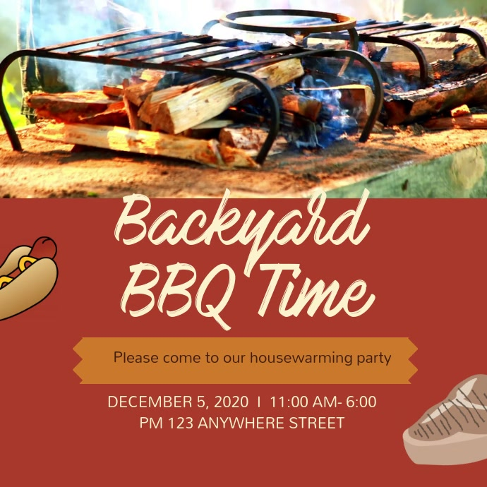 Backyard BBQ Invitation Video Background Template